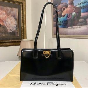 Salvatore Ferragamo Patent Leather Shoulder Bag